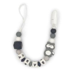ketting-eekhoornmet-clip-3-kleuren-baby-grijs-zwart-wit