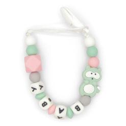 ketting-eekhoornmet-clip-3-kleuren-baby-roze-groen-wit